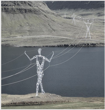 Iceland's 'walking' pylons